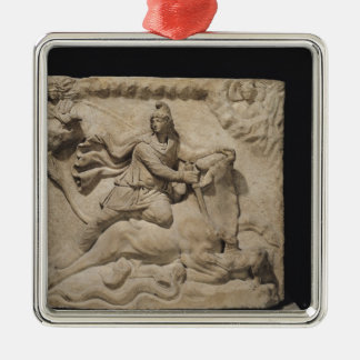 Mithras Sacrificing the Bull, 2nd-3rd century Metal Ornament