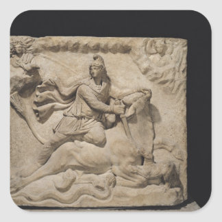 Mithras Sacrificing the Bull, 2nd-3rd century Square Sticker