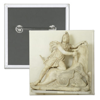 Mithras Sacrificing the Bull, Marble relief, Roman Button