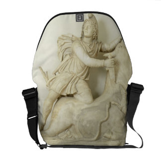 Mithras Sacrificing the Bull, Marble relief, Roman Courier Bag