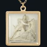 "Mithras Sacrificing the Bull, Marble relief, Roman Gold Finish Necklace<br><div class=""desc"">Image:60792  Mithras Sacrificing the Bull,  Marble relief,  Roman,  2nd century.  Museo Archeologico,  Venice,  Italy.  Art,  Fine Art.</div>"