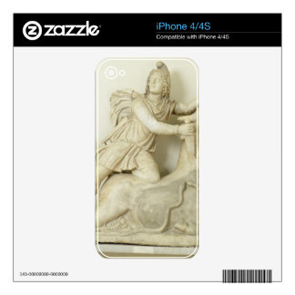 Mithras Sacrificing the Bull, Marble relief, Roman iPhone 4 Skin