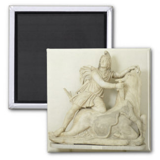 Mithras Sacrificing the Bull, Marble relief, Roman Magnet