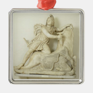 Mithras Sacrificing the Bull, Marble relief, Roman Metal Ornament