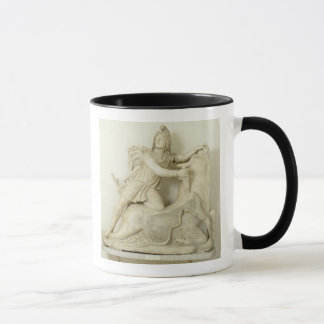 Mithras Sacrificing the Bull, Marble relief, Roman Mug