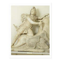 Mithras Sacrificing the Bull, Marble relief, Roman Postcard