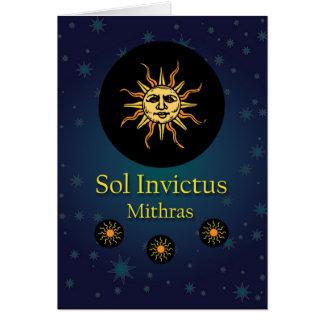 Mithras, The Invincible Winter Sun Illustration Card
