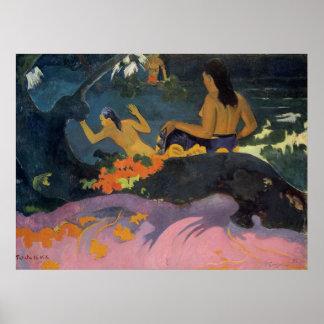 Miti de Fatata Te (por el mar) - impresión de Paul Poster