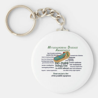 mito awarness facts basic round button keychain