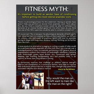 Mito de la aptitud - aerobio contra el posters