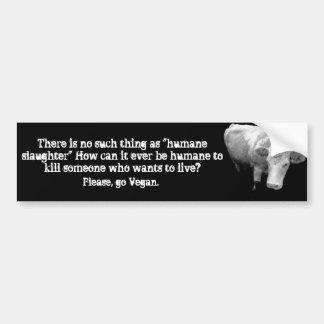 Mito humano de la matanza pegatina de parachoque