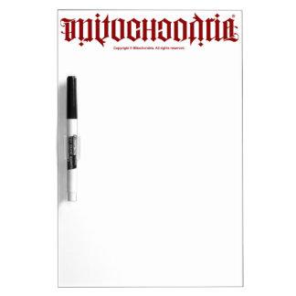 Mitochondria Ambigram Dry Erase Whiteboards