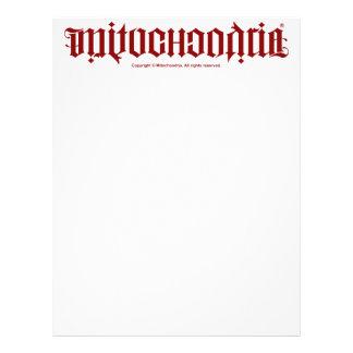 Mitochondria Ambigram Letterhead
