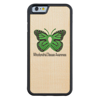Mitochondrial Disease Awareness Butterfly Ribbon Carved Maple iPhone 6 Bumper Case