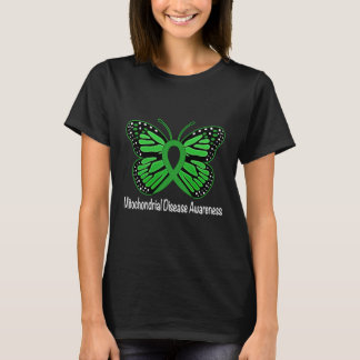 Mitochondrial Disease Butterfly Awareness Ribbon T-Shirt