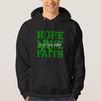 Mitochondrial Disease Hope Love Faith Survivor Hooded Pullover