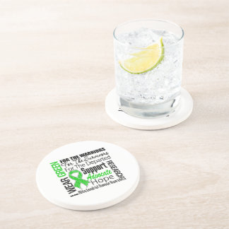 Mitochondrial Disease I Wear Green Ribbon Tribute Drink Coasters