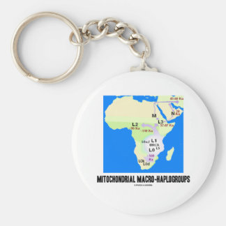 Mitochondrial Macro-Haplogroups MRCA Genealogy Key Chains