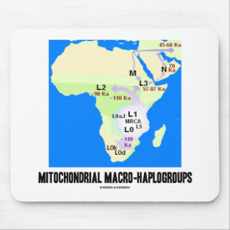 Mitochondrial Macro-Haplogroups MRCA Genealogy Mouse Pad
