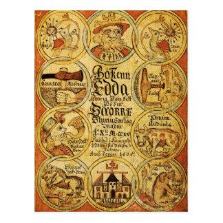 Mitología de los nórdises de Edda Postal