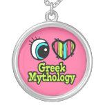 Mitología griega del ojo del amor brillante del co colgante personalizado