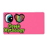Mitología griega del ojo del amor brillante del co etiqueta de envío