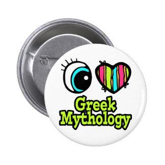 Mitología griega del ojo del amor brillante del co pin redondo de 2 pulgadas