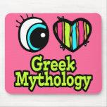 Mitología griega del ojo del amor brillante del co alfombrilla de ratón