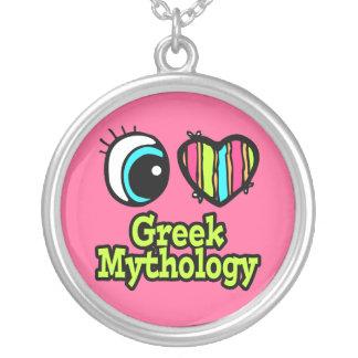 Mitología griega del ojo del amor brillante del colgante redondo