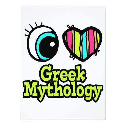 Mitología griega del ojo del amor brillante del invitación 16,5 x 22,2 cm