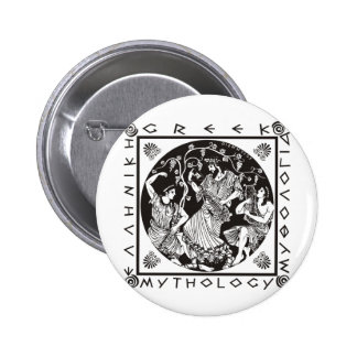 Mitología griega - negro pin redondo 5 cm