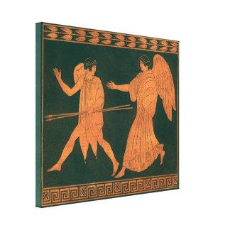 Mitología romana del vintage, Diana y un ángel Impresiones En Lona Estiradas