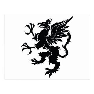 Mitológico dragon postcard