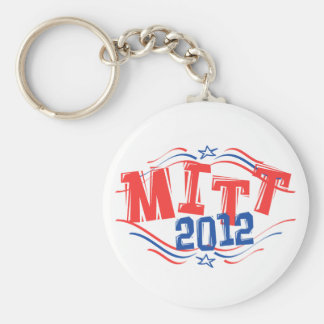 MITÓN 2012 patriótico - Mitt Romney 2012 Llavero Redondo Tipo Pin