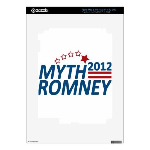 Mitón anti 2012 de Romney del mito iPad 3 Pegatinas Skins