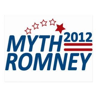 Mitón anti 2012 de Romney del mito Postales