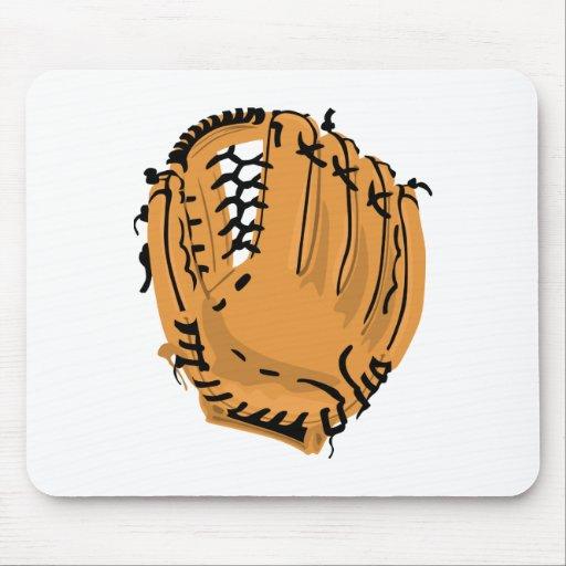 Mitón de béisbol alfombrilla de raton