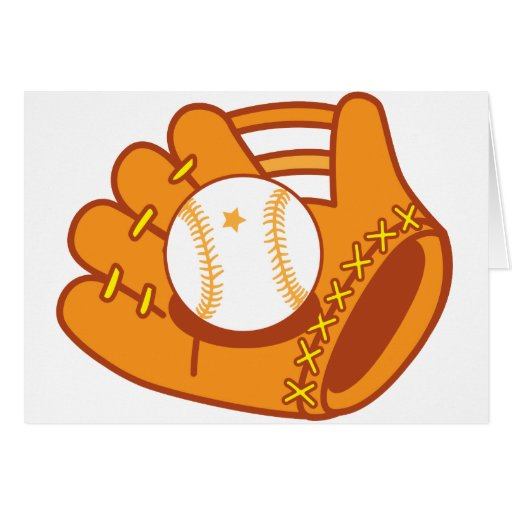 Mitón de béisbol tarjeta de felicitación