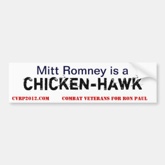Mitón de ChickenHawk Pegatina De Parachoque