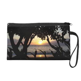 Mitón de la puesta del sol de la playa de Maui