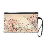 Mitón de las flores de cerezo de Hokusai el monte