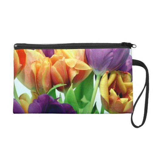 Mitón de los tulipanes de la mandarina y de la lav