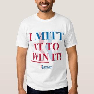 ¡Mitón de Mitt Romney I él para ganarlo! Camiseta Poleras