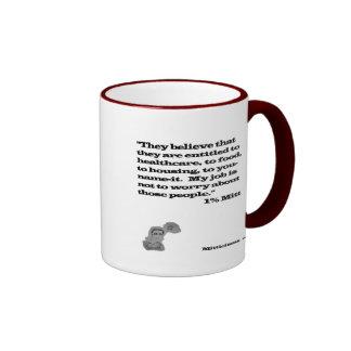 Mitón del 1% taza de dos colores