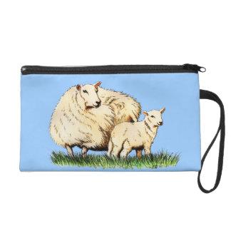 mitón del animal de dos ovejas