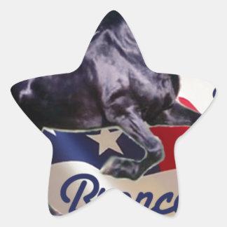 ¡Mitón del dólar apoyo el caballo salvaje Bama! Pegatina En Forma De Estrella
