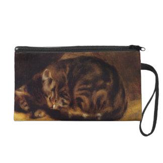 Mitón del gato el dormir de Renoir