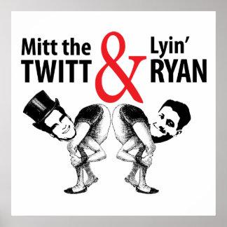 Mitón el Twitt y el Lyin' Ryan Póster