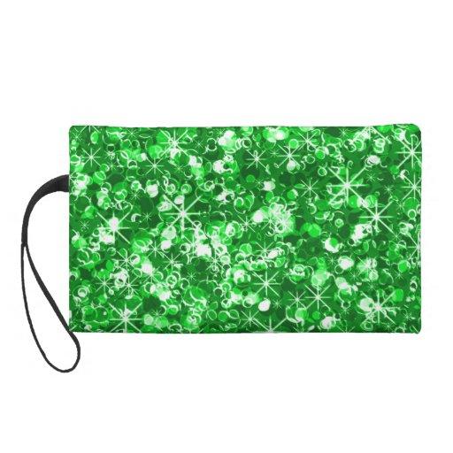 Mitón glamoroso del bagette del verde esmeralda de