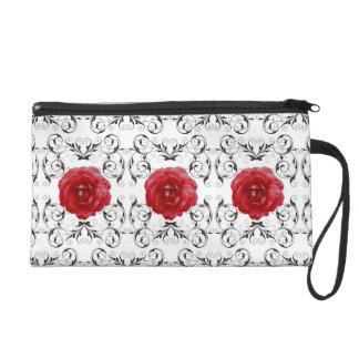 Mitón - Mini-Monedero - rosas rojos Scrollwork